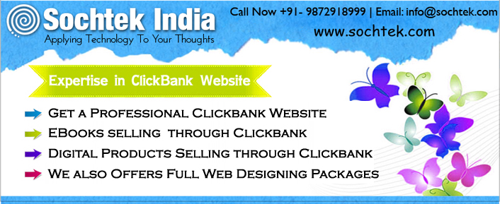 Ebooks and digital products selling clickbank