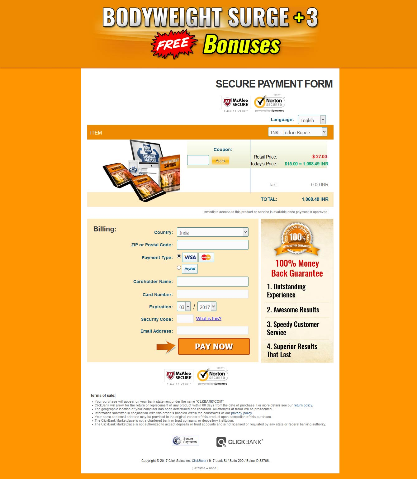 clickbank-order-page
