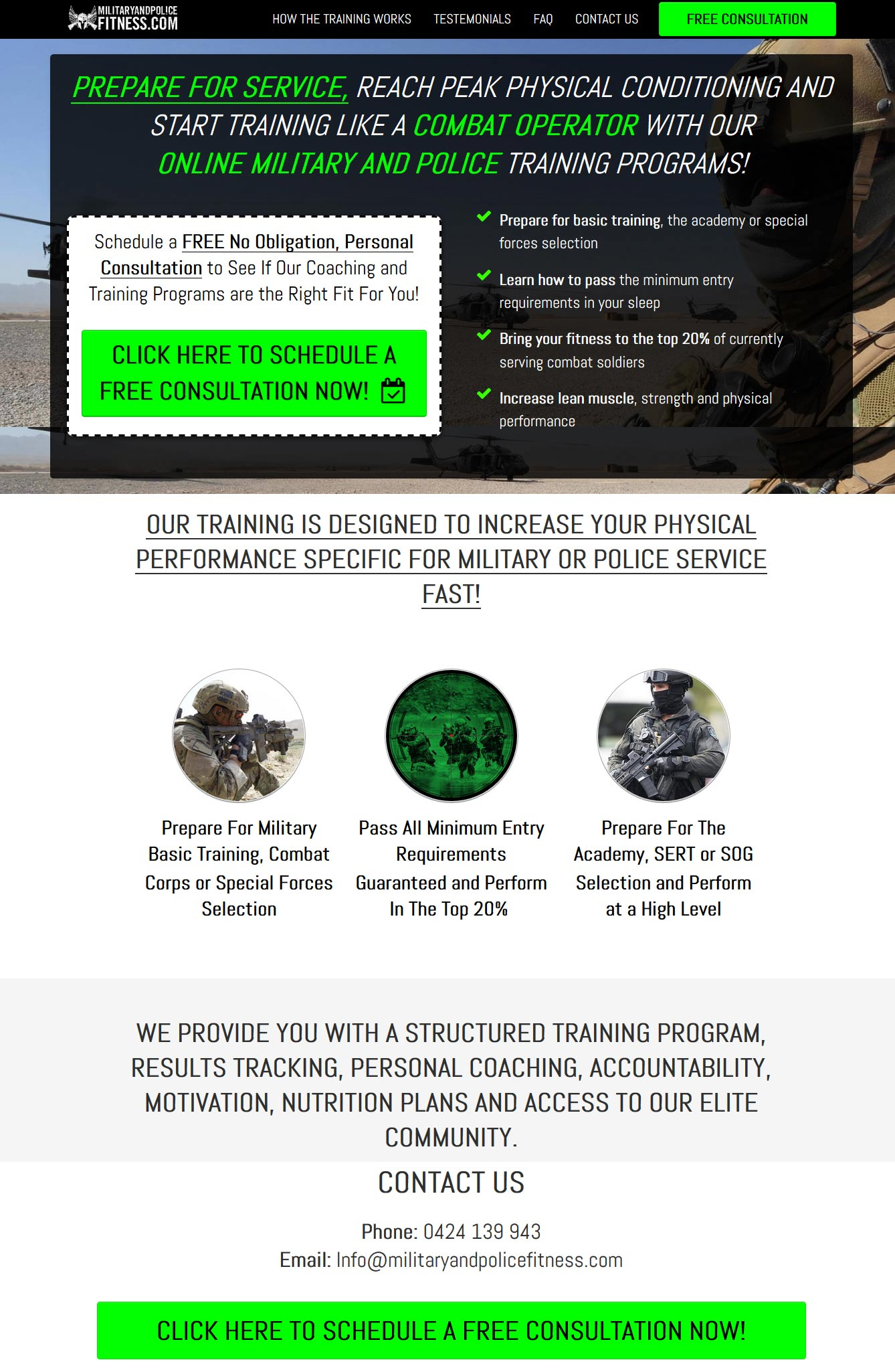 military-training-website-clickfunnels